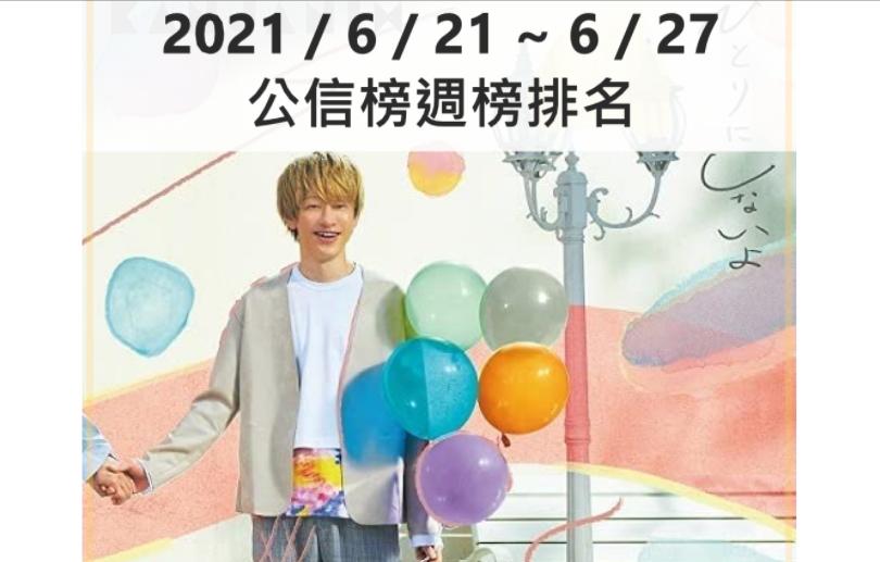 【公信榜】關8首週登場奪冠 米津玄師拿下數位榜前3名【2021/6/21~6/27】