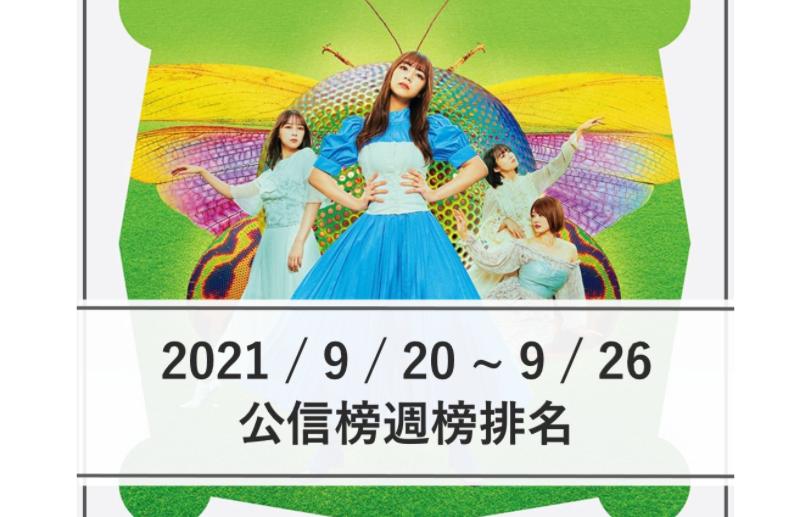 【公信榜】乃木坂46穩奪冠軍 首週銷量突破50萬張!【2021/9/20~9/26】