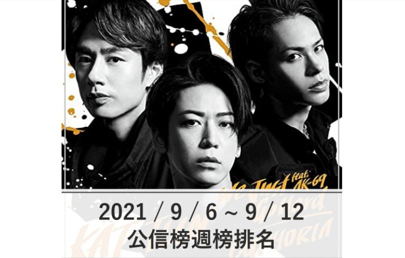 【公信榜】KAT-TUN首週登場奪冠 更新自身紀錄【2021/9/6~9/12】